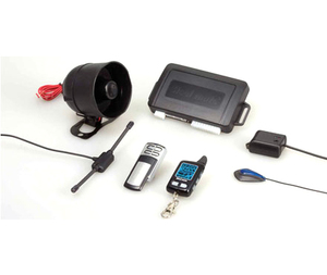 Car theft tools emergency override auto rearming security alarm system