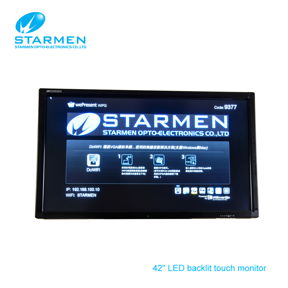 "Taiwan Make 42"" LED backlit LCD touch screen"