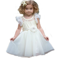 Lovely Flower Girl Dresses Tulle Beading Appliqued Pageant frocks For Girl First Communion Dresses Kids Prom Dresses