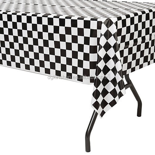 Beau Black U0026amp; White Checkered Flag Table Cover Party Favor/Checkered  Tablecloth/Disposable