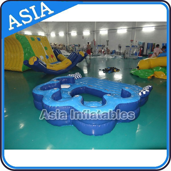 product detail swimming pool inflatable floating lounge island super toy