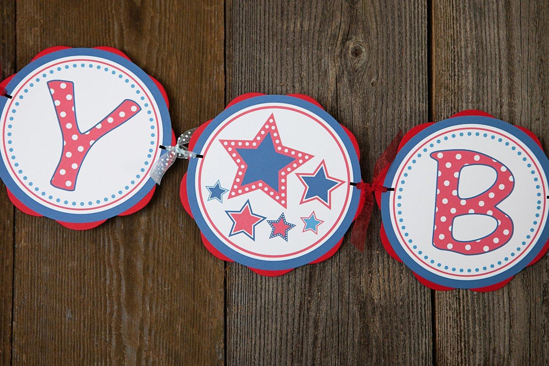 Custom Party Shop - Star Happy Birthday Banner - Star Birthday Decorations