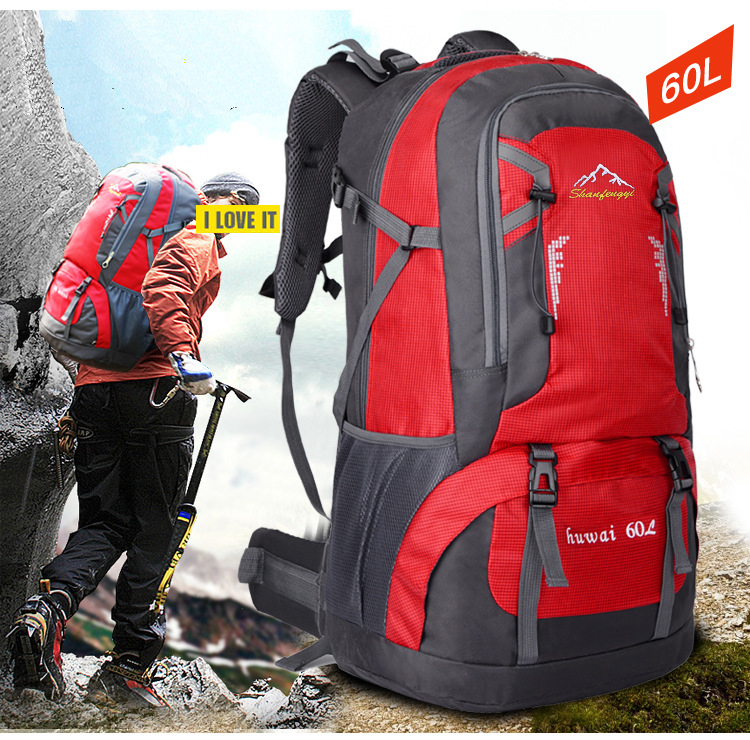 602a5b94bf 60L Waterproof Outdoor Climbing Travel Large Backpack Camping Hiking  Rucksack Bag Gym Mountaineering Bag EBAY HOT