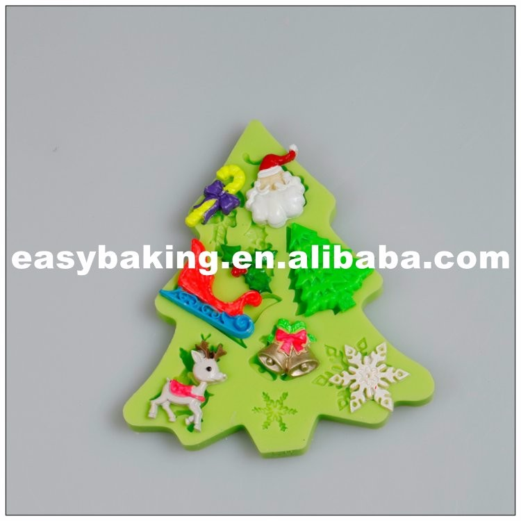 Multi Cavities Different Shapes Christmas Series Silicone Molds for cake decorating