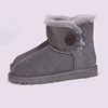 Womens Genuine Leather Sheepskin Lined Boots Women Winter Warm Snow Boots