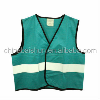 safety vests green just one line reflective high with en 20471