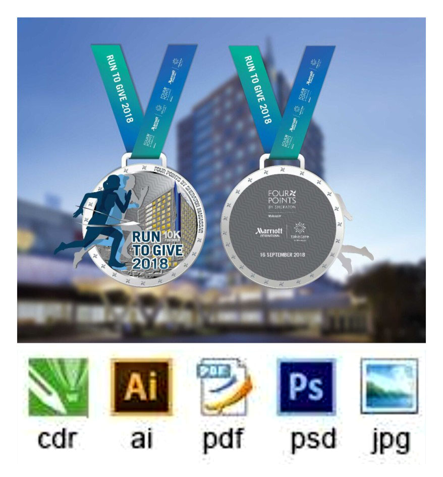 Custom metal High quality 2D hollowing race medals with ribbon