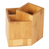 Wholesale bamboo handmade pencil pen holder,office desktop pen storage organization holder