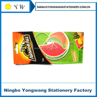P42 paper car air freshener in watermelon shape