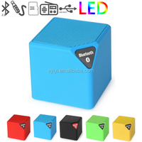 (Cheap Price) LED Cube Mini BT Speaker X3 FM Radio, Wireless X3 Mini Speaker BT Supports TF USB for Music/Call