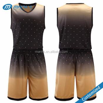 Индивидуальные мужчин высокого качества градиент цвета колледж команда  спортивный костюм баскетбол униформа 4b476ed1cba