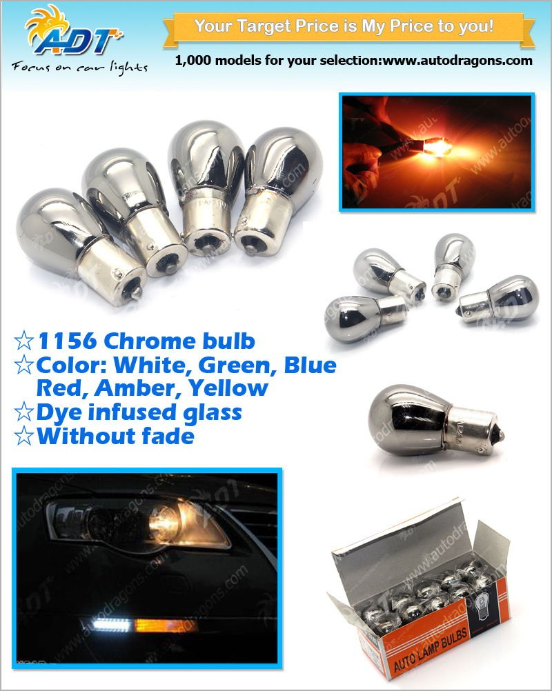 T20 W21W 21W T20 382 S25 P21W Silver / Chrome Red Amber BA15s 12V 21W Auto Chrome light for Instrument Cluster,Gauge Bulbs