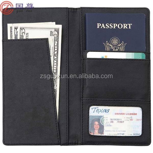 Laissez-passer d'autobus en cuir titulaire de carte de voyage