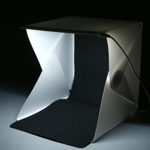 Kaliou 20cm mini Folding Lightbox Photography Studio Softbox LED Light Soft Box Camera Photo Background Box Lighting Tent Kit