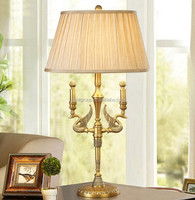 Lifelike Home Decorated Classic Solid Brass Golden Swan Table Reading Lamps BF11-01234h