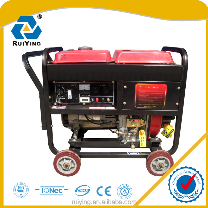 5kva Air cooled small size diesel genertor for construction use