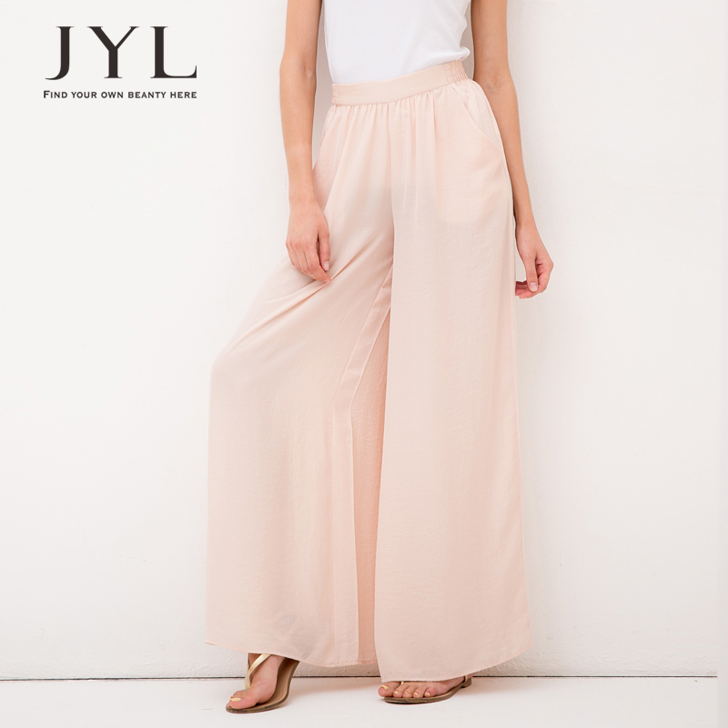 4ed2f5be286 Get Quotations · Palazzo pants women brand elastic waist high waisted pants