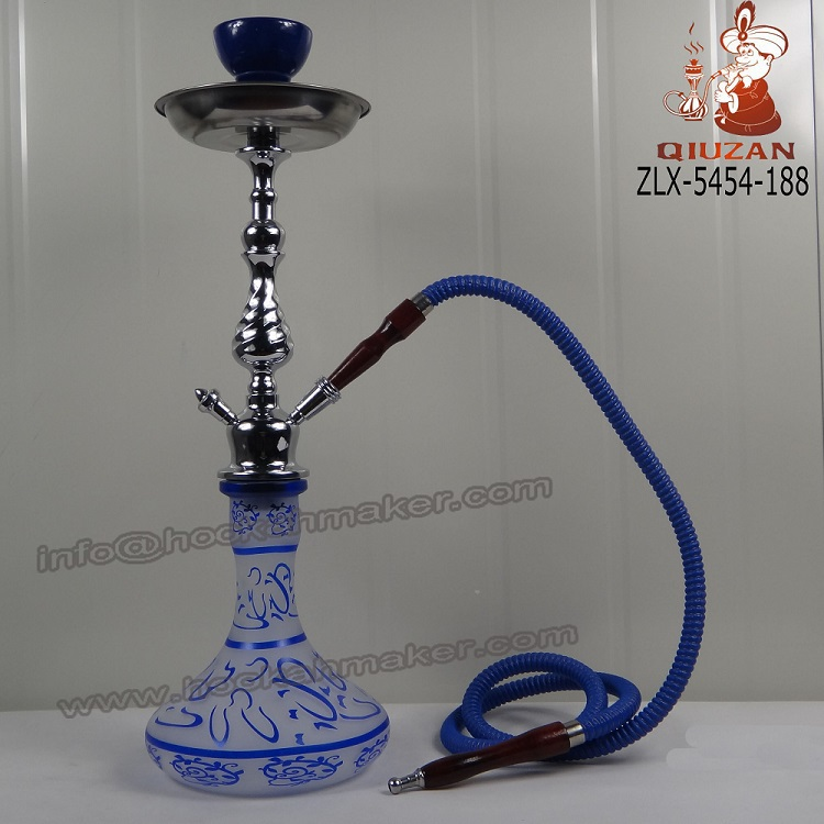 Plastic Metal Hookah Hose with Glass Hookah Vase