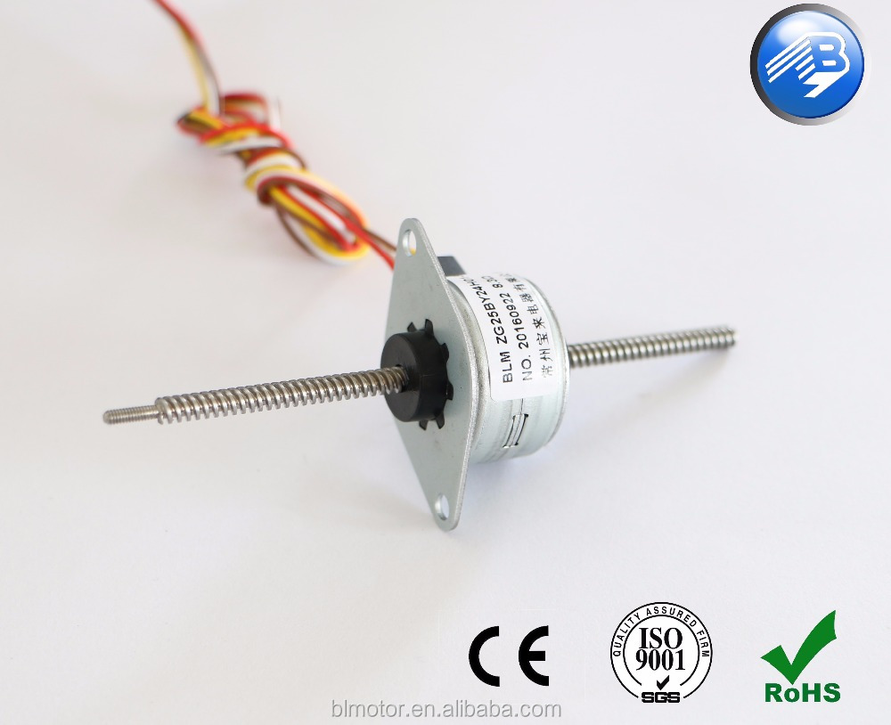 1 inch linear stepper motor with long shaft non captive lead screw axis 7.5 step angle