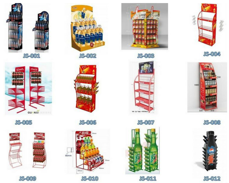 Attractive floor movable display stand for beverage