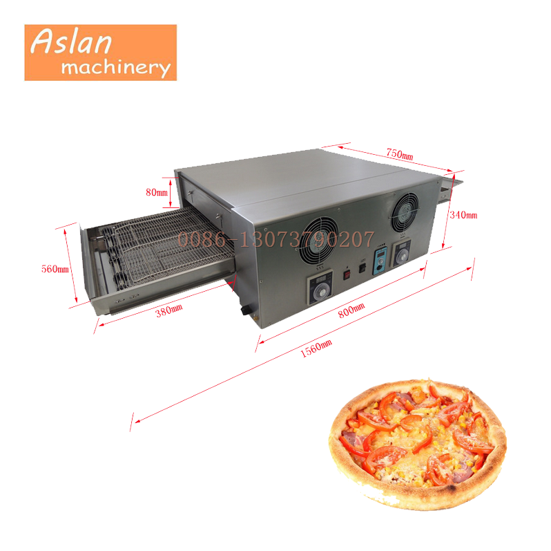 crawler type electric pizza oven/9 inch pizza baking oven/32 inch pizza making machine