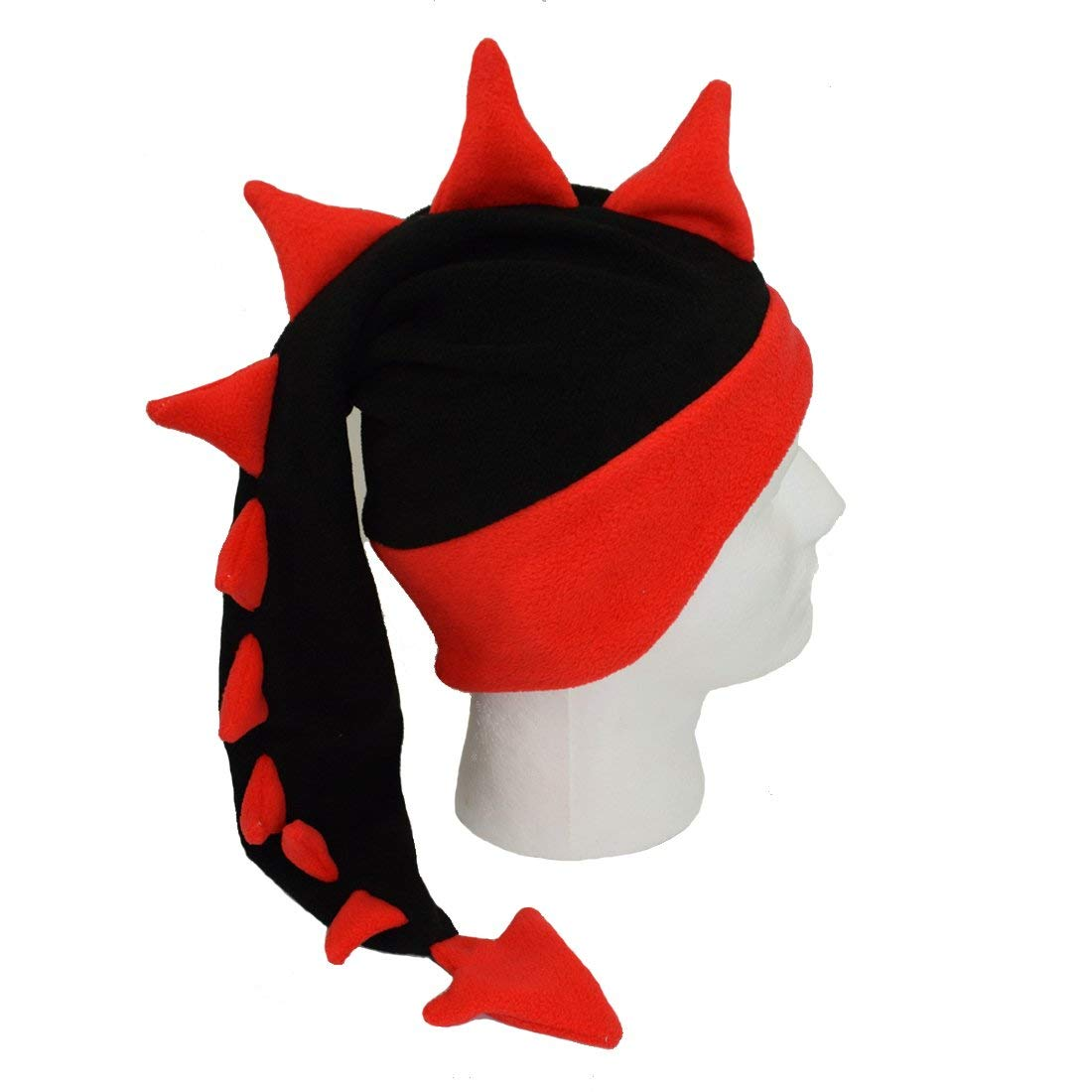 2b1b9b67593 Get Quotations · Echolife Unisex Kids Adults Dragon Tail Hat Devil Spikes  Hats Cap for Halloween Costumes Party
