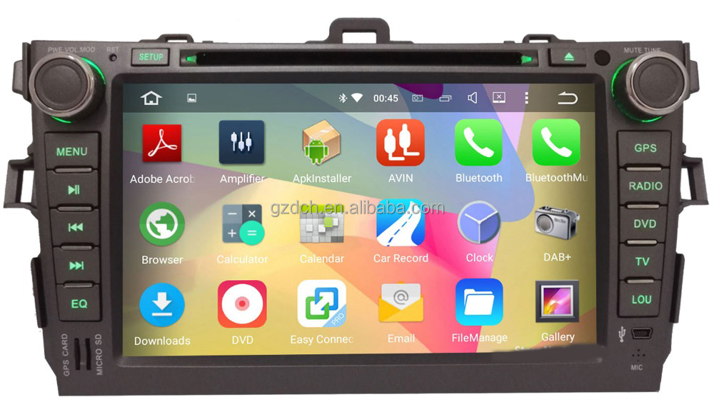 quad Core Android 5.1.1 for <strong>Toyota</strong> <strong>Corolla</strong> 2007 2008 2009 2010 2011 Car DVD Radio GPS Navigation WS-9123