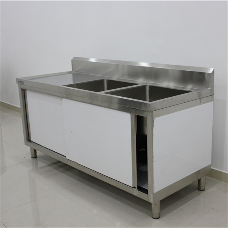 Metal Kitchen Sink Base Cabinet Stainless Steel Kitchen Sink Cabinet Double Bowl Stainless Steel Sink With Drainboard Buy Sink With