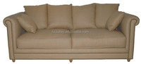 American accent style living room yellow genuine pu leather optional armrest sofa