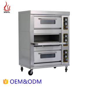 Junjian Professional Commercial Multifunction tripe-layer six-tray Gas industrial bread making machines