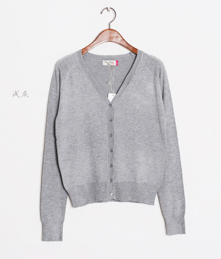 0d57698726 Get Quotations · 2015 Spring and Autumn new ladies cardigan sweater Korean  female short paragraph knit cardigan coat female