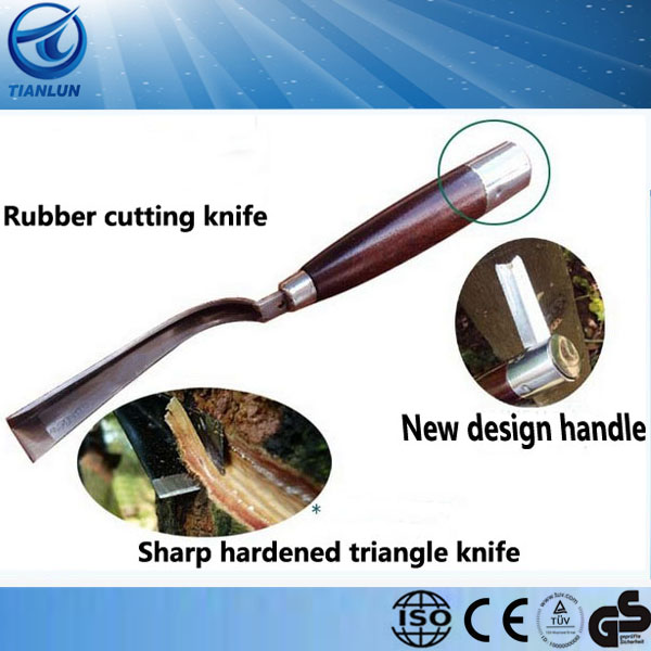 agriculture wood handle rubber cutter hand tool