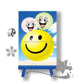 Best Selling 10 15cm Smile Face Pattern Diamond Picture 3d Diamond