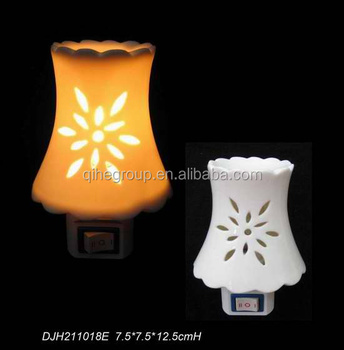 Ceramic Decorative Plug In Night Lights Wall Plug Night