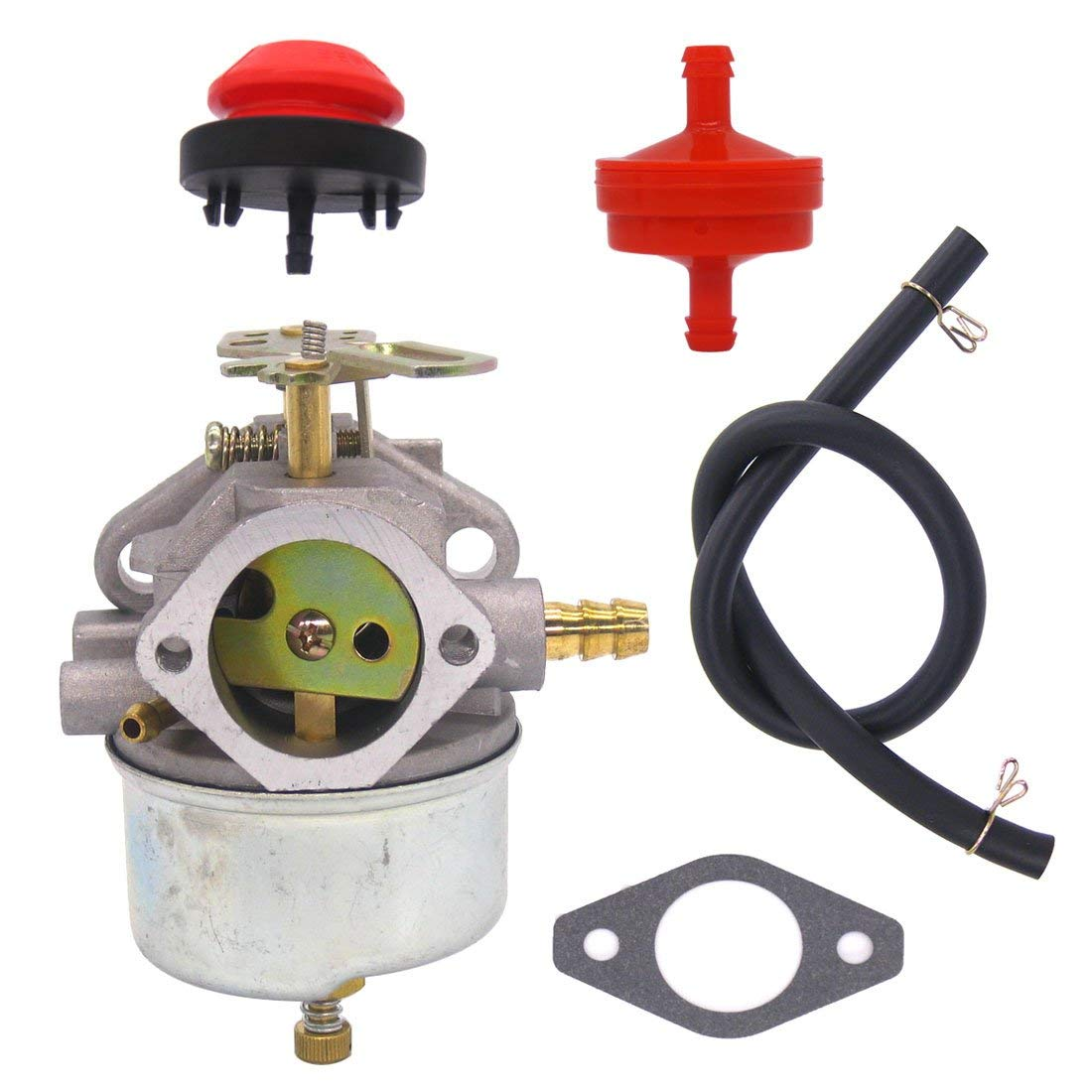 Atoparts New Carburetor with Fuel Filter Primer Bulb for Tecumseh 632370A 632370 632110 fits HM100 HMSK100 HMSK90 Snow Blower