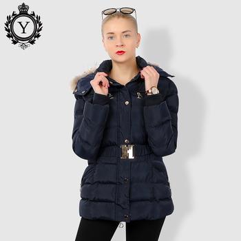 0cb1e18198d2b COUTUDI Designer Winter Women Slim Thick Warm Stylish Long Jacket Coats  Lady With Fur Hooded Belt