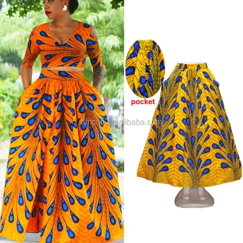 23c9f0184c22 Queency Small MOQ Newest African Style Design Print Wholesale Maxi Long Dashiki  Skirt