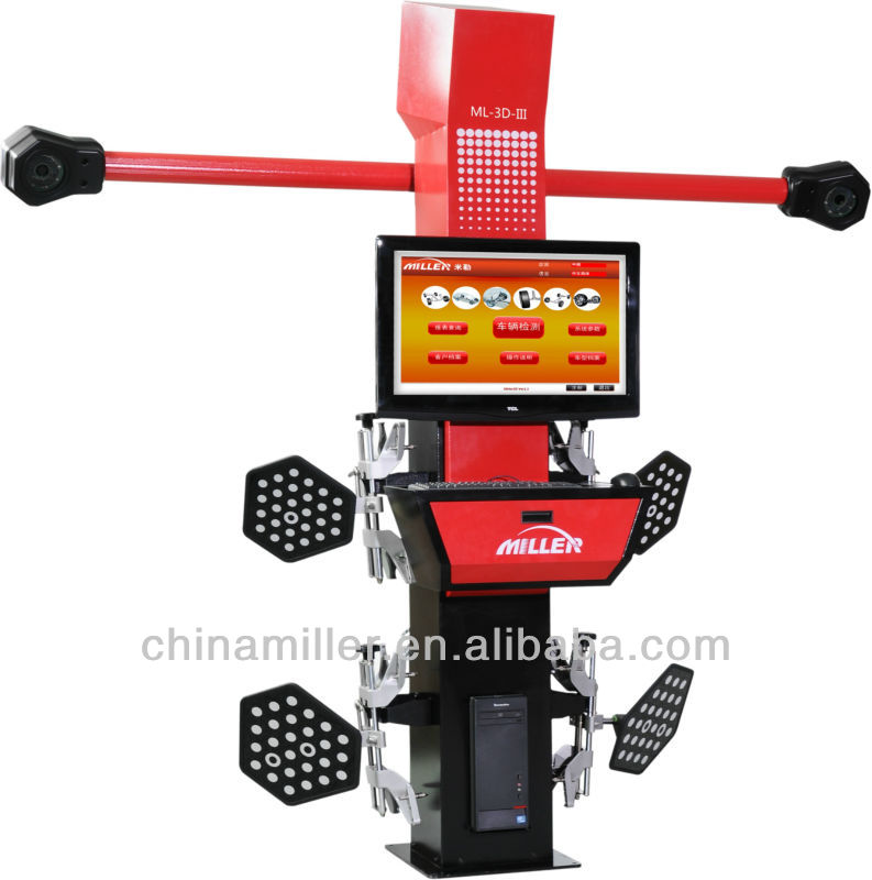 5000000 pixel camera, newest advanced 3d wheel aligner with scissor lift hot sale(ce certificate)