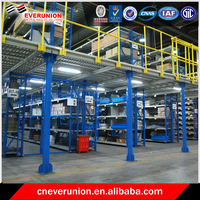 High density warehouse mezzanine rack system