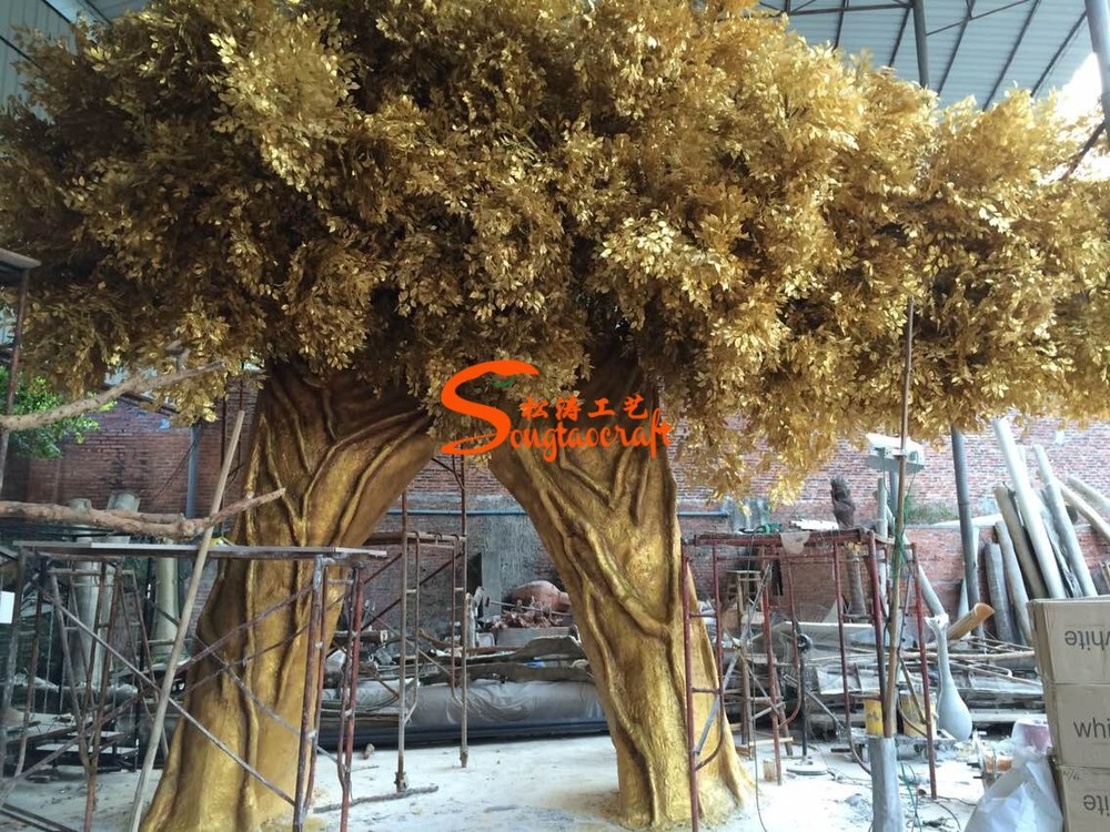 made in china factory wholesale cheap artificial fake large decorative trees live ficus trees for home - Ficus Trees