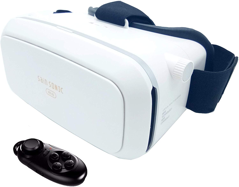 Google Cardboard VR shinecon Pro Version VR Virtual Reality 3D Glasses +Smart Bluetooth Wireless Remote Control Gamepad …