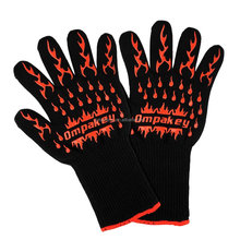 Heat Resistant BBQ Cooking Gloves Aramid Cooking Gloves Silicone Grill Gloves