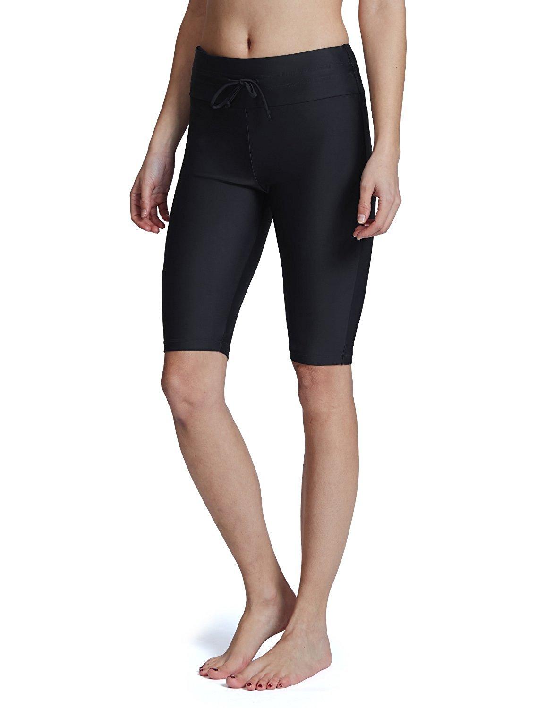 7ae13f660837 Baleaf Women's Long Board Shorts High Waisted Swim Shorts Sun Protection Bikini  Bottom