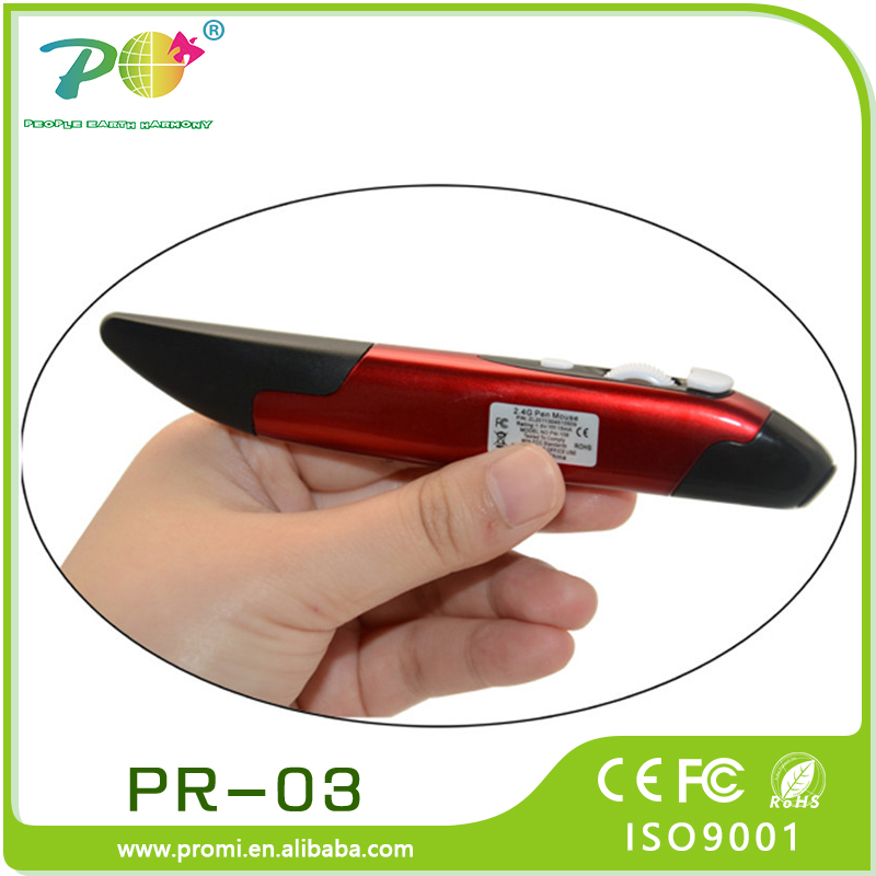 Fancy items optical oem pen shaped mouse wireless mouse 2.4ghz with USB receiver for corporate gift