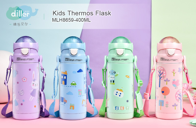 Insulated vacuum kids water bottle