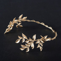 HG199 Luxury Wedding Bridal Leaf Leaves Gold Hair Hoop Tiara Crowns and Tiaras For Party