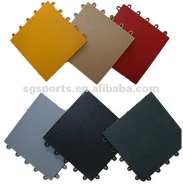 2012 Hot Sales Can Be 100% Recyclable Do Not Contain Any Toxic PP Indoor Or Outdoor Interlocking Sports Floor