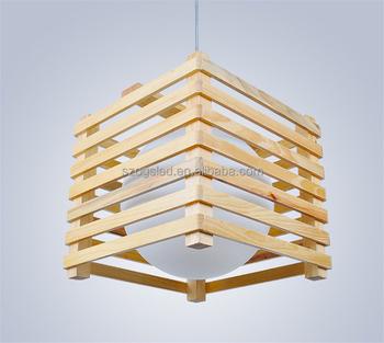 Square Wooden Frame Pendant Light Round Glass Hanging Lamp For Restaurant Buy Glass Ball Pendant Light Wooden Frame Pendant Light Modern Pendant