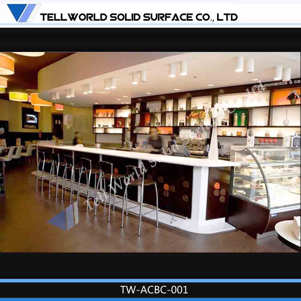 Restaurant furniture fast food table bar counter design for Photo de bar restaurant