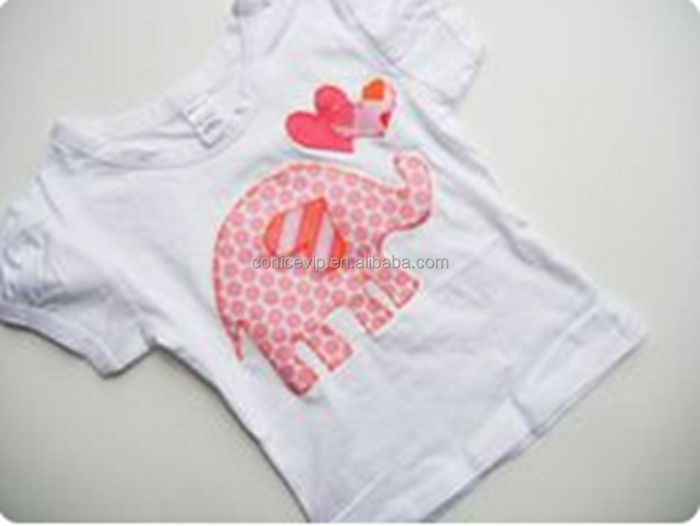 Baby Girl Body Suit Little Elephant Paisley Cute Western Wear Can change fabric t-shirt Safari best selling girls clothing set